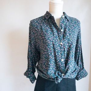 Vintage Ann Taylor Circa 1980s Button Down Blouse